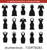 fashion woman dresses set... | Shutterstock .eps vector #710978281