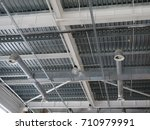 a close up of a ceiling in a...