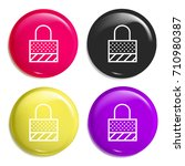 locked multi color glossy badge ...