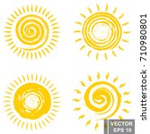 set of sun. spiral. good... | Shutterstock .eps vector #710980801