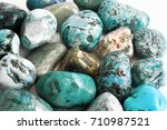 stones turquoise crystals on a... | Shutterstock . vector #710987521