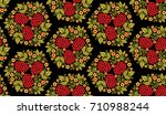 traditional russian seamless... | Shutterstock .eps vector #710988244