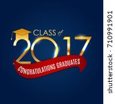 congratulations on graduation... | Shutterstock . vector #710991901