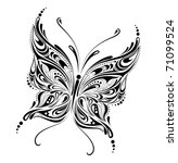 abstract butterfly design - raster version - stock photo