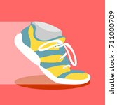 sport shoes icon fitness... | Shutterstock .eps vector #711000709