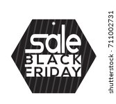 isolated black friday label on... | Shutterstock .eps vector #711002731