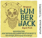 vintage label typeface named ... | Shutterstock .eps vector #711003901