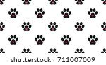 dog paw cat paw heart icon... | Shutterstock .eps vector #711007009