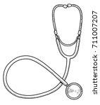 stethoscope illustration ... | Shutterstock .eps vector #711007207