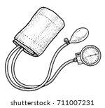 blood pressure meter... | Shutterstock .eps vector #711007231