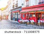 paris  france   december 11 ...   Shutterstock . vector #711008575