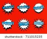 comic speech bubbles collection ...   Shutterstock .eps vector #711015235