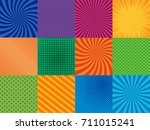 comic book pages set with...   Shutterstock .eps vector #711015241