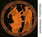 vector illustration in ancient... | Shutterstock .eps vector #711015334