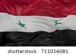national  flag of the syria... | Shutterstock . vector #711016081