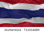 national flag of the thailand... | Shutterstock . vector #711016084