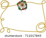 country western christmas... | Shutterstock .eps vector #711017845