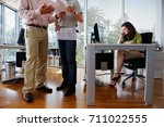 people working in modern office | Shutterstock . vector #711022555