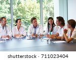 Doctors Meeting To Discuss Files