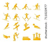 winter sports   games icons set  | Shutterstock .eps vector #711023977