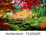 a bridge in a japanese garden... | Shutterstock . vector #71102605