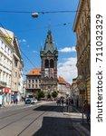 prague  czech republic   june... | Shutterstock . vector #711032329