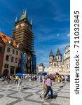 prague  czech republic   june... | Shutterstock . vector #711032845