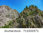 view of the canyon yolu in the... | Shutterstock . vector #711033571