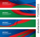 abstract azerbaijan flag vector ...