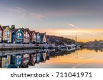 reflections on the sea in the... | Shutterstock . vector #711041971