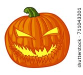 halloween pumpkin | Shutterstock .eps vector #711043201
