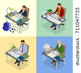 four isometric pictures on the
