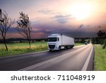 truck on the road | Shutterstock . vector #711048919