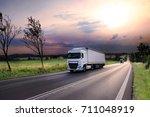 truck transportation | Shutterstock . vector #711048919