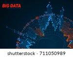 big data circular visualization....   Shutterstock .eps vector #711050989