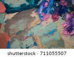 hand drawn oil painting.... | Shutterstock . vector #711055507