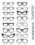 glasses and sunglasses... | Shutterstock .eps vector #71105737