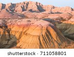 scenic view  at sunset in... | Shutterstock . vector #711058801