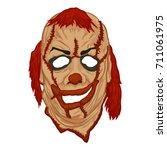 scary clown mask | Shutterstock .eps vector #711061975