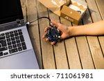 german programming platform... | Shutterstock . vector #711061981