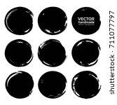 black circles brush strokes... | Shutterstock .eps vector #711077797