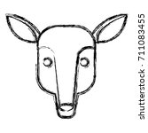 anteater animal cartoon | Shutterstock .eps vector #711083455