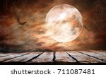 halloween background | Shutterstock . vector #711087481