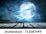 halloween background | Shutterstock . vector #711087499