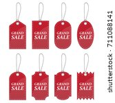 red price sale tag sticker... | Shutterstock .eps vector #711088141