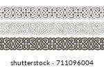 celtic knot braided frame... | Shutterstock .eps vector #711096004