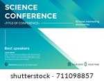 science conference invitation... | Shutterstock .eps vector #711098857