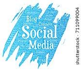 vector conceptual social media... | Shutterstock .eps vector #711099004