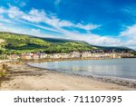 carnlouhg town in a beautiful...   Shutterstock . vector #711107395