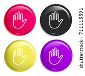 hold multi color glossy badge...